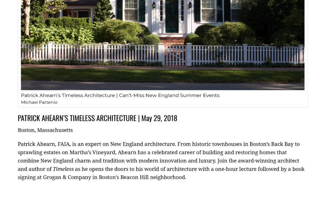 New England Today Travel recommends Timeless Book Event