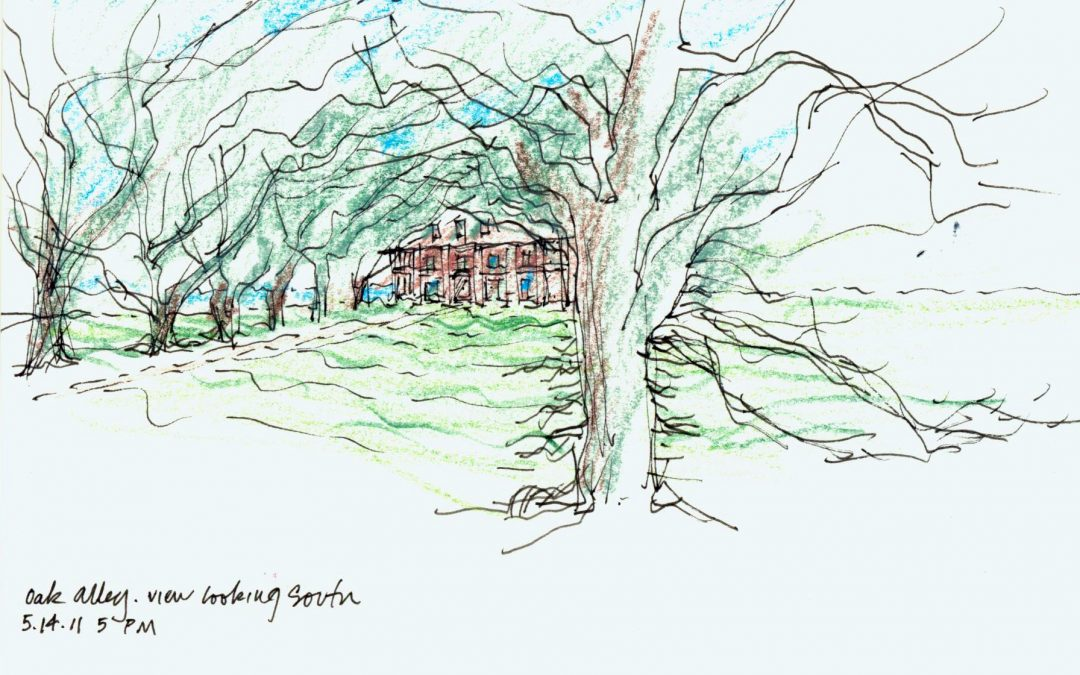 Louisiana's Oak Alley, by Frank Harmon featured in Architects and Artisans