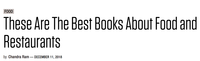 Plate Magazine Names Architect's Cookbook Among the Best Books About Food & Restaurants